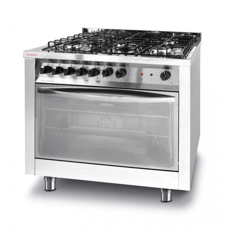Kuchnia Gazowa 5 Palnikowa Z Konwekcyjnym Piekarnikiem Elektrycznym Z Grillem 226254