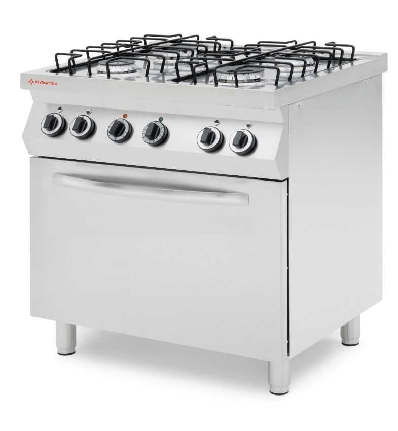 Kuchnia Gazowa 4 Palnikowa Z Konwekcyjnym Piekarnikiem Elektrycznym Gn 11 226438
