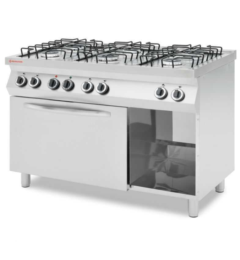Kuchnia Gazowa 6 Palnikowa Z Konwekcyjnym Piekarnikiem Elektrycznym Gn 11 226452